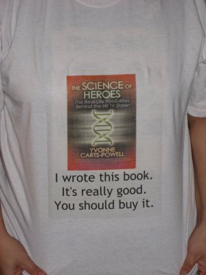 Shameless Author Self-Promotion, shirt by Paola Addamiano-Carts, photo by Anna Carts