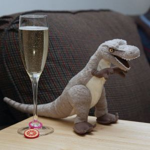 Dinosaur and wine. Photo by Matthew Hull. From MorgueFile.
