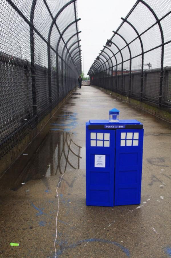 TARDIS on a bridge